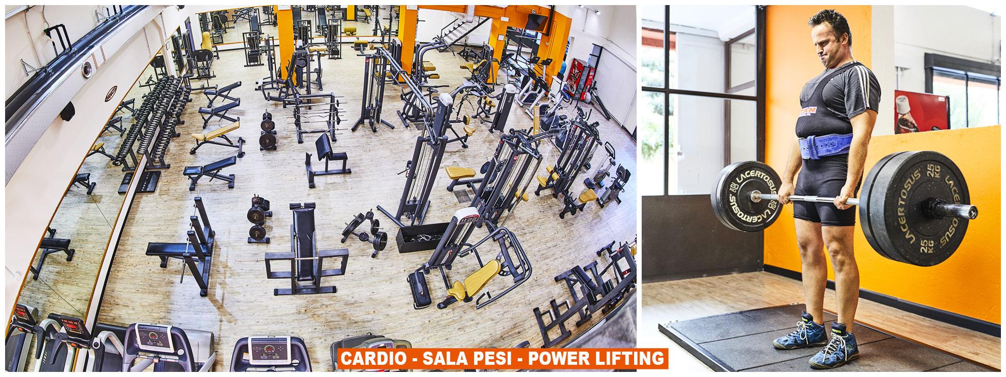 sala pesi - cardio - power lifting